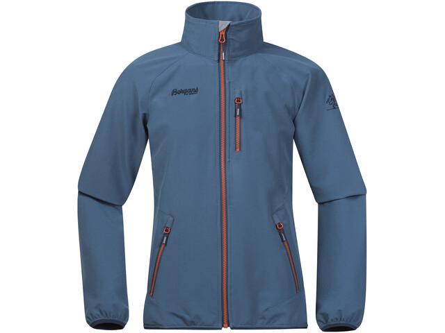 Bergans Kjerag Jacket Kids steel blue/dark steel blue/koi orange